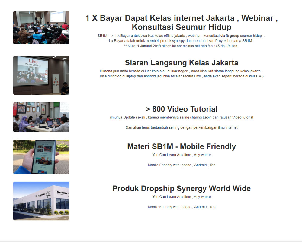 Tempat Kursus Internet Digital Marketing SB1M