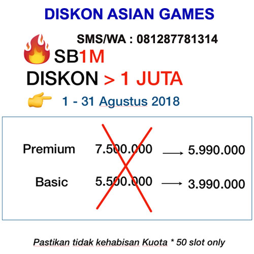 SB1M Diskon Asian Games